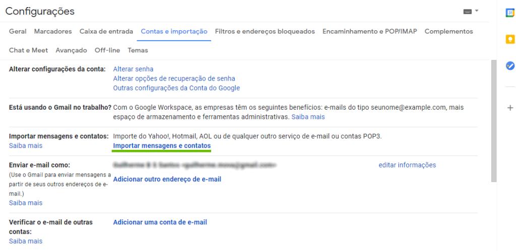 Gmail - configuração