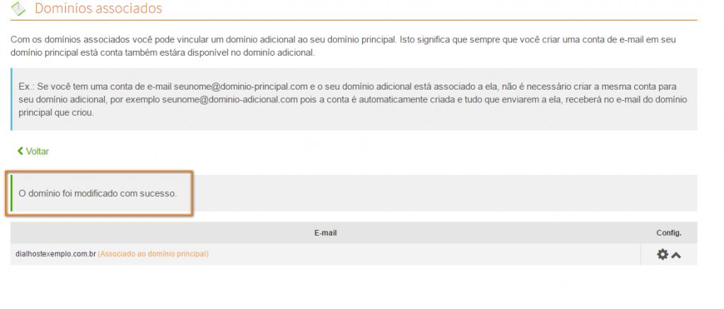 associar os e-mails