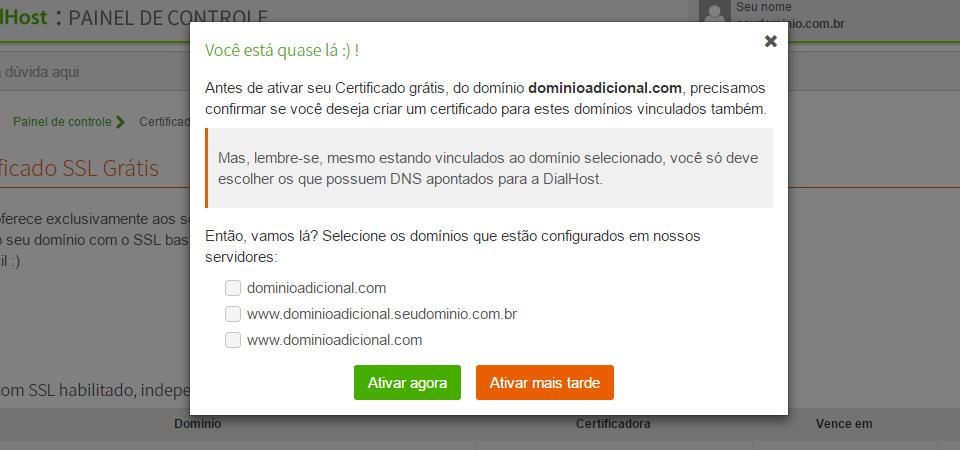 ativar Certificado SSL Grátis