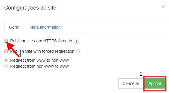HTTPS no Criador de sites