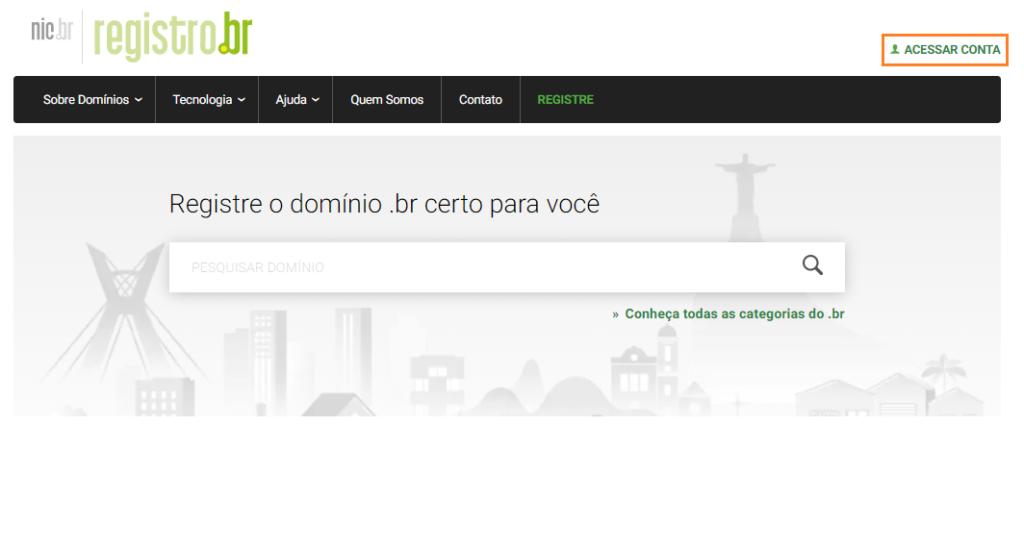 DNS registro.br acessar