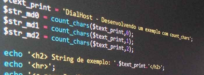 count_chars - Tratamento de strings com PHP